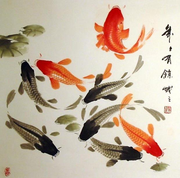 Fish chinese symbol for Koi fish symbolism